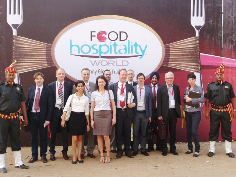 Delegation from Italy in India